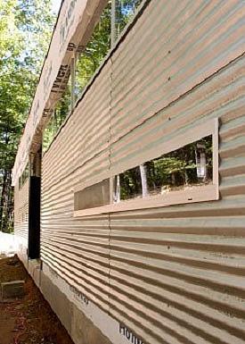 La madera en los techos planos parte iii for Revestimiento exterior zinc