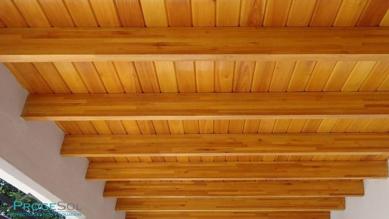 La madera en los techos planos parte iii wood - Techos falsos de madera ...
